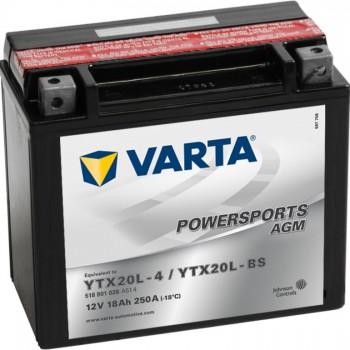 VARTA AGM YTX20L-4 YTX20L-BS 518901026